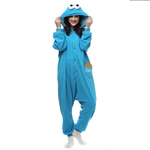 VU ROUL Bird Outfit Cookie Monster Onesie Union Suit Large Blue