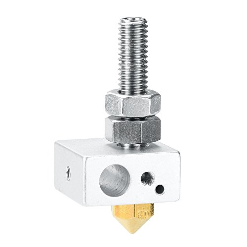 ALUNAR 3D Printer Accessories Aluminum Block Throat Tube Nozzle Assembled Done for DIY Self Assembly Prusa I3 3D Printer Kit