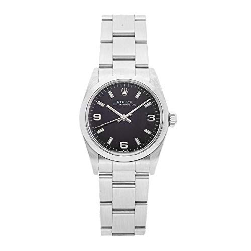 Rolex Oyster Perpetual Mechanical (Automatic) Black Dial Womens Watch 77080 (Certified Pre-Owned)
