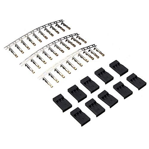 Yoton Accessories 10 Sets Servo Plug Terminal Gilt Male and Terminal for Futaba Plug