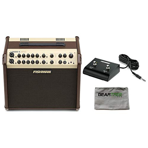 Fishman PRO-LBX-600 Loudbox Artist Acoustic Guitar Amp w/Polish Cloth and Foots - Loudbox 100 Acoustic Amplifier