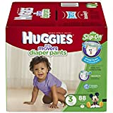 HUGGIES Little Movers Diaper Pants, Size 3, 88 Count