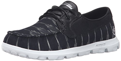 Skechers Performance Damen On-Dem-Go Flagship Slip-On Bootsschuh Schwarz / Weiß Ikat