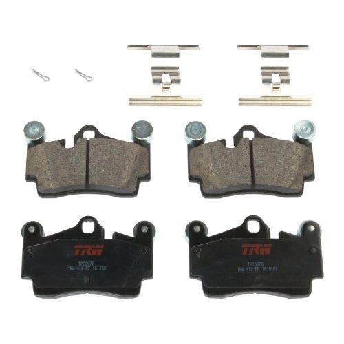 (TRW Black TPC0978 Premium Ceramic Rear Disc Brake Pad Set)