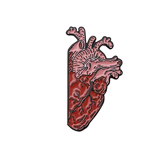 Half Heart And Brain Enamel Pin Medical Anatomy Art Organ Human Medicine Brooch For Doctor Student Teacher Gift Badges Jewelr,Style2 from Balloon flower store
