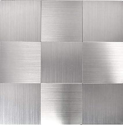 Mosaico Autoadesivi in alluminio argento in metallo per piastrelle ...