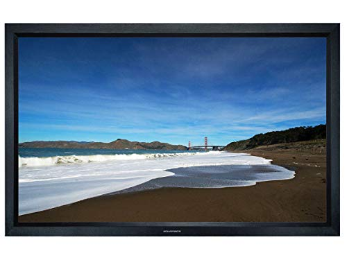 Monoprice Fixed Frame Projection Screen (8cm Aluminum Frame w/ Velvet Wrapped) - HD White Fabric (106 inch, 16:9)