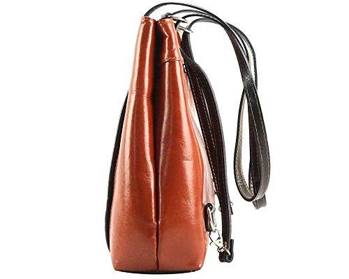 Bolsos Florence En Convertible Claro Becerro Leather Bolso Marròn marròn De Market Oscuro Hombro 211 Piel Lidia Pw0rPqF