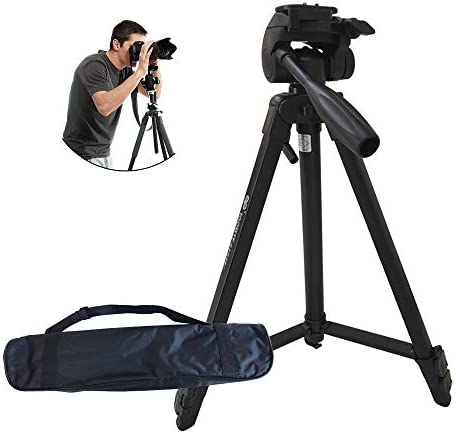 Camera Tripod,52//4.5 Ft 1//4 Quick Release Plates Professional Portable Lightweight Aluminum Alloy Monopod with Carrying Bag For Digital DSLR Camera//Video Recorder//Sports Camera