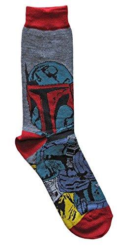 Hyp Star Wars Boba Fett Men's Crew Socks Shoe Size 6-12 ()
