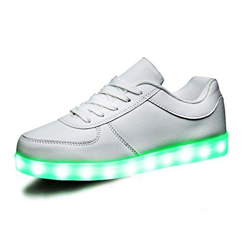 ToLFE Kids Boys Girls Led Light Up Shoes Flashing Sneakers (Little Kid/Big Kid) 001T / 02 / 35