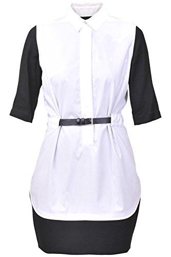 Maison nero Martin bianco camicia Margiela Abito MM6 d0Apqd