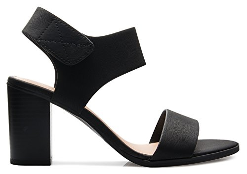 Picture of OLIVIA K Women's Peep Toe Sandal - Low Stacked Heel - Open Toe Heel