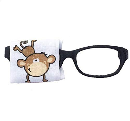 Eye Patch for kids glasses - MONKEY - baby child adult eye patch - Vision Lazy eye therapy patch