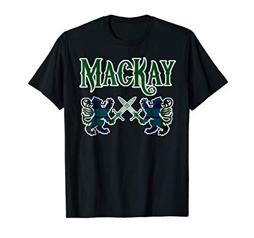 MacKay scottish clan t-shirt Family Kilt Tartan Lion