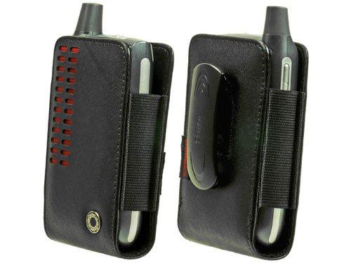Skin Treo Black (Cellet Bergamo Case with Removable Spring Belt Clip for Palm Treo 650, 700, etc. - Black/Red)