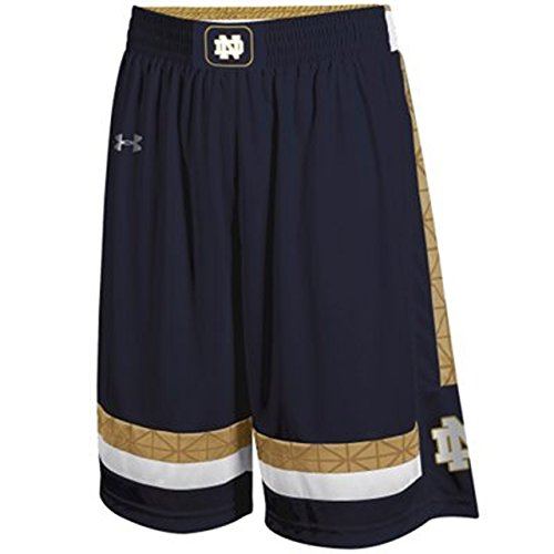 (Under Armour Notre Dame Fighting Irish Youth Replica Basketball Shorts - Navy, Youth X-Large)