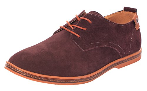 Unflappable Mens Fashion Comfortable Soft Sole Suede Lace Up Casual Oxford Shoes(10.5 D(M)US,brown)