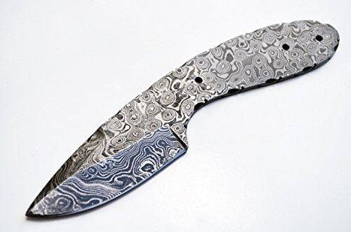Damascus Knife Hunting Drop Point Blank Blade Skinning Skinner Best Steel 1095HC High (Skinner Drop Point)