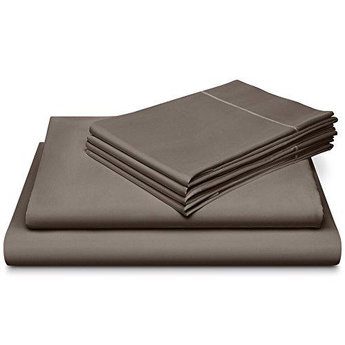 Dream Castle - Dream Castle Linens 800 Thread Count 100% Long Staple Soft Cotton SheetSet with BONUS Pillowcases,6 Piece Set,QUEEN SHEETS,Smooth Sateen Weave,Deep Pocket,Luxury Bedding,Marrow Hem,CHARCOAL