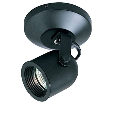 WAC Lighting ME-808-BK Surface Mount Directional Spot Light with Electronic Transformer, Black