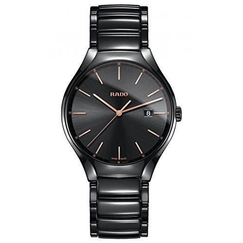 Rado Men's 40mm Black Ceramic Band & Case S. Sapphire Quartz Analog Watch R27238162