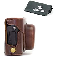 MegaGear Ever Ready Protective Leather Camera Case, Bag for Fujifilm X30 12 MP Digital Camera (Dark Brown)