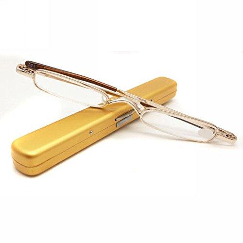 Distinct Reading Glasses Ultra Thin Light Mini Design Portable Spectacle for Men Women Random Color +1.0 ~ - Spectacles Best Glass For