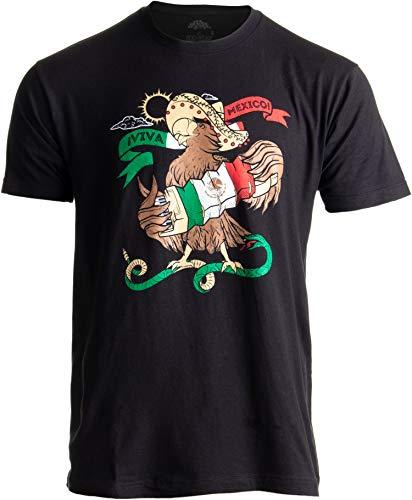 Mexican Pride | Mariachi Mexico Flag Camiseta Mexicana Funny Men Women T-Shirt-(Adult,L) Black