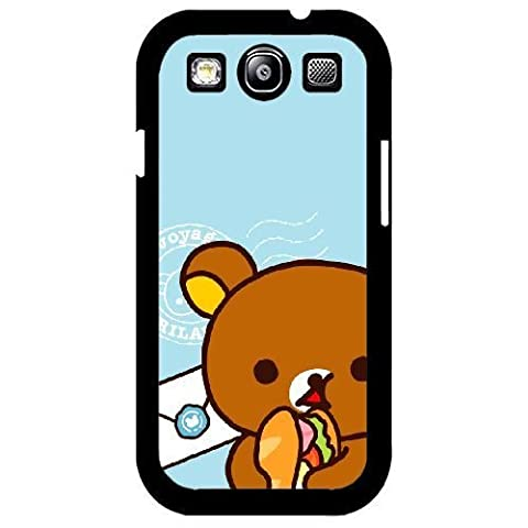 Samsung Galaxy S3 I9300 Case,Lovely Rilakkuma Pattern Durable Hard Plastic Scratch-Proof Protective Case,Black (Rilakkuma Phone Case Galaxy S3)
