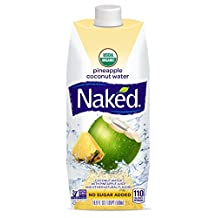 Naked Juice Coconut Water, Pineapple, USDA Organic, NON GMO Project Verified, 16.9 Ounce, 12 Pack