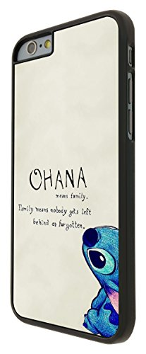 103 - Ohana Family Meaning Fun Cool Design iphone 6 6S 4.7'' Hülle Fashion Trend Case Back Cover Metall und Kunststoff - Schwarz