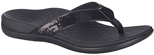 Vionic with Orthaheel Technology Womens Tide Sequins Black - Orthaheel Womens