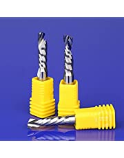 Wear-Resistant Thread Mill 1 Piece Tungsten Steel Up-Down Cut Router Bits 1 Flute Spiral Carbide End Mill CNC Tool Cutters for Woodworking Plywood (Cutting Edge Length : 4x4x22)