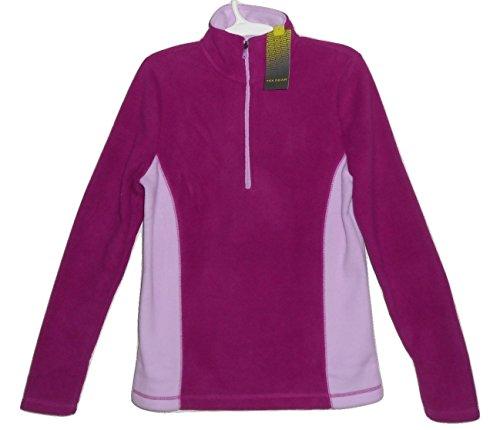 Tek Gear Pink Polar Fleece Half Zip Shirt Jacket