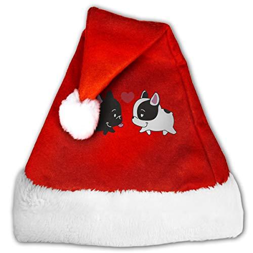 French Baby Bulldog in Love Christmas Xmas Santa