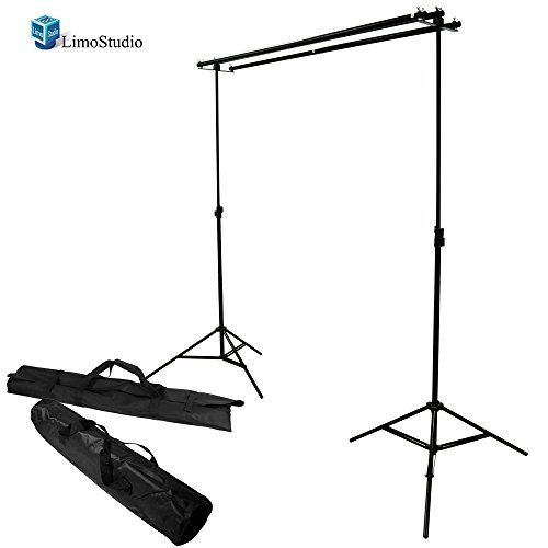 LimoStudio Photography Photo Studio 10' x 8.5' Background Stand Backdrop Support System Kit with Cross Bar Mounting Hardware Set, AGG1497