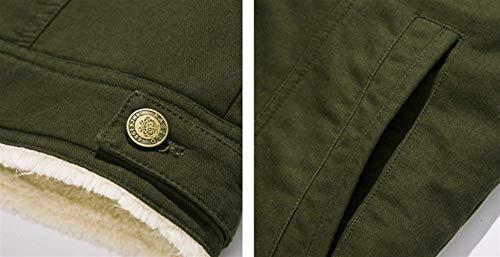 Solapa Adelina Collar Algodón Escudo De Coat Prendas Abrigo Larga Casual Abrigo Hombres Gruesa De Invierno Los Grün Outwear Chaqueta De De Piel Manga De qfFCRwxAF
