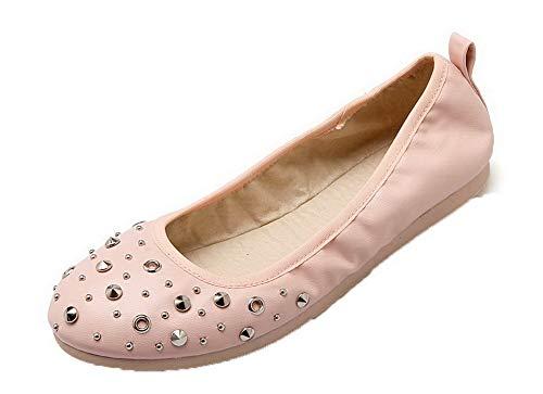 Aalardom Cerrada Mujeres tsmdh003539 Puntera Microfibra Mini Tacón Rosa  Zapatos Tacón De wTgfw 1632e6dc0f52