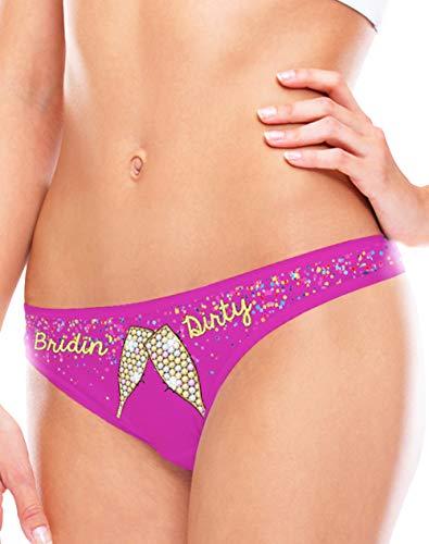 Fling Ring Bachelorette Bridal Shower Gift Panties for Brides Regular Plus Size Womens Underwear - L
