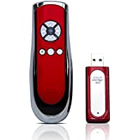 Satechi SP400 Smart-Pointer (Red) 2.4Ghz RF Wireless Presenter with mouse function for Mac and PC
