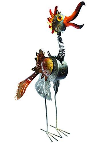 Bali Garden Metal Bird Candle Holder, Crazy Baby, 35'' Tall by G W Schleidt