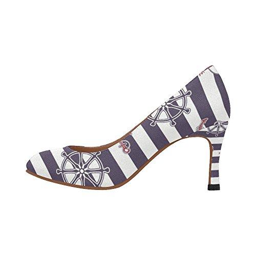InterestPrint Womens Fashion High Heel Dress Pump Shoes Multi 9 qHkJw