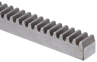Boston Gear L5156 Rack Gear, 14.5 Degree Pressure Angle, 12 Pitch, 6.0 feet long, Steel