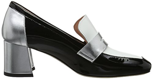 Marc Cain Gb Sd.10 L35, Zapatos de Tacón para Mujer Negro (Black And White)