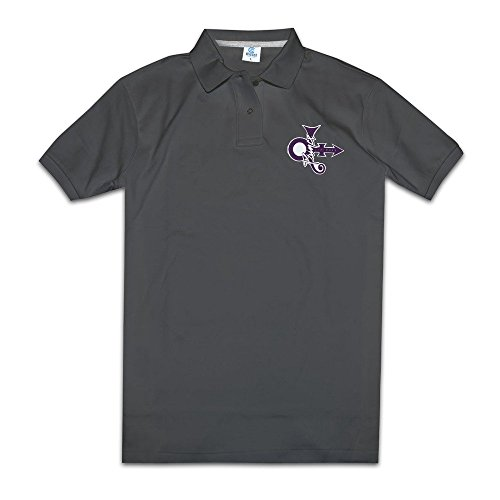 Prince Love Symbol Men's Black Polo Shirts Novelty T Shirts