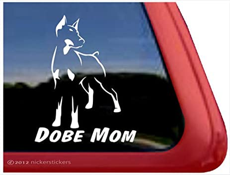 Amazoncom Dobe Mom Doberman Pinscher Vinyl Window Auto Decal - Vinyl window decals amazon