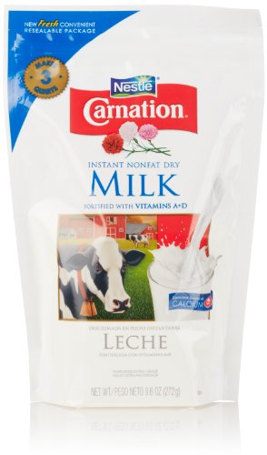 Milk Nonfat Powder Dry (Nestle Carnation Instant Nonfat Dry Milk, 9.6 Ounce Pouch)