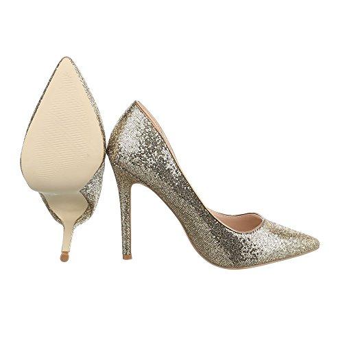 Ital-Design - Plataforma Mujer Gold 5015-59