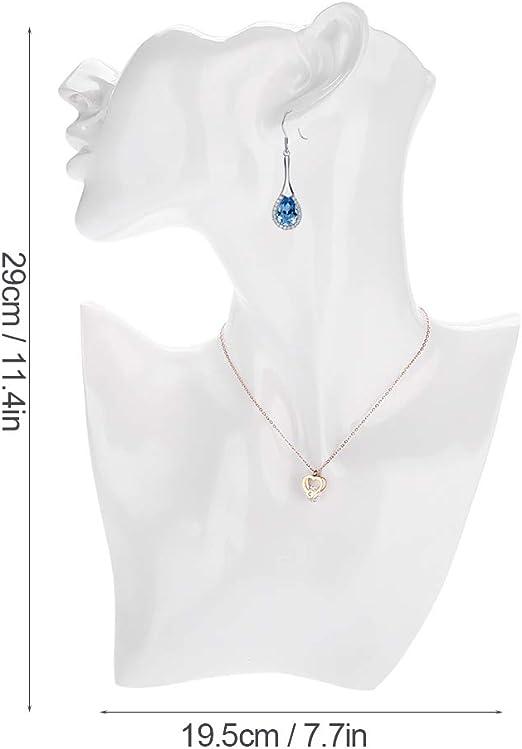 XingYue Direct Collana orecchino Titolare manichino Testa Busto Stand Modello Negozio Gioielli espositore Color : White